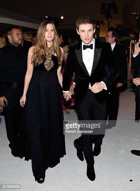 Hannah Redmayne and actor Eddie Redmayne attend the 88th Annual Academy Awards at Loews Hollywood Hotel on February 28 2016 in Hollywood California