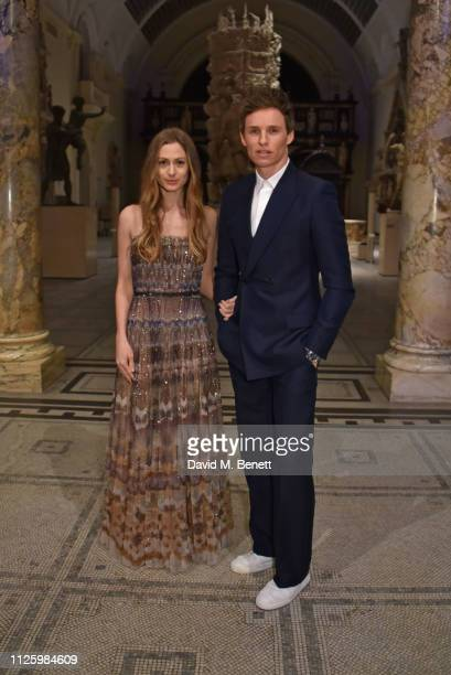 Hannah Redmayne and Eddie Redmayne attend a gala dinner celebrating the opening of the Christian Dior Designer of Dreams exhibition at The VA on...