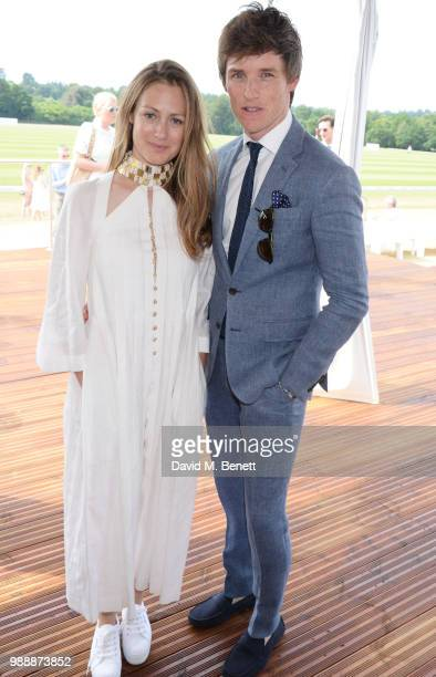 Hannah Redmayne and Eddie Redmayne attend the Audi Polo Challenge at Coworth Park Polo Club on July 1 2018 in Ascot England