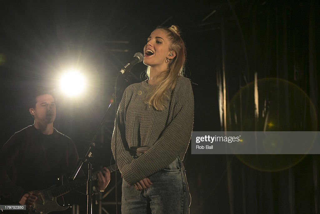 Hannah Reid from London Grammar performs at Day 2 of Bestival at Robin Hill Country Park on September 6, 2013 in Newport, Isle of Wight.