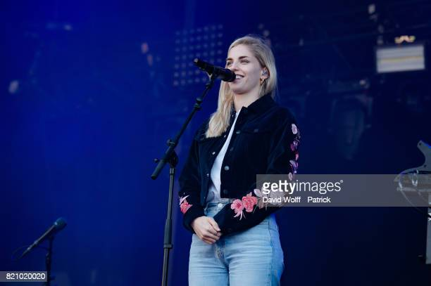 Hannah Reid from London Grammar performs furing first Lollapalooza in France at Hippodrome de Longchamp on July 22 2017 in Paris France