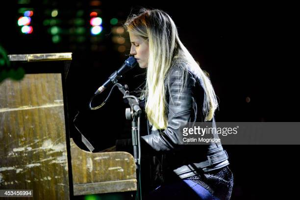 Hannah Reid of London Grammar performs on stage at Wilderness Festival at Cornbury Park on August 10 2014 in Oxford United Kingdom
