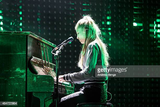 Hannah Reid of London Grammar performs on stage for Festival No6 on September 5 2014 in Portmeirion United Kingdom
