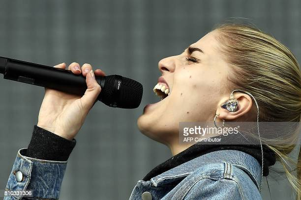 Hannah Reid of London Grammar performs on the main Stage at the TRNSMT music Festival on Glasgow Green in Glasgow on July 7 2017 PHOTO / Andy Buchanan