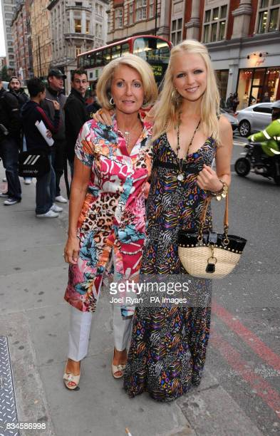 Hannah Sandling and her mother arrive for the Pharrell Williams party to celebrate the UK launch of his sportswear brand Billionaire Boys Club at...