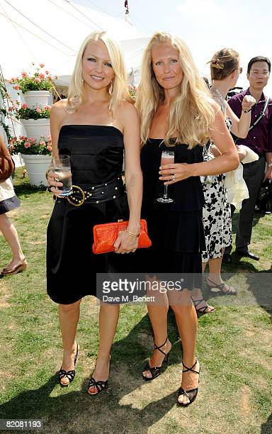Hannah Sandling and Katrina Sandling attend the annual Cartier International Polo Day at the Cartier Marquee in Great Windsor Park on July 27 2008 in...