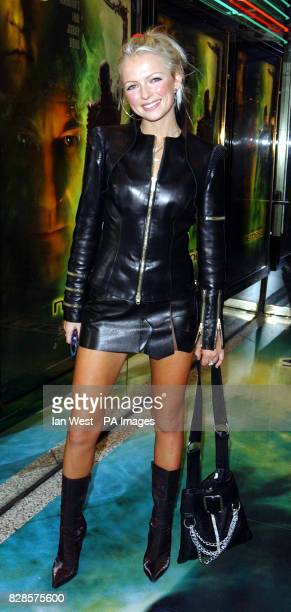 Hannah Sandling stylist to the stars arrives for the European Charity Premiere of Star Trek Nemesis at the Empire Leicester Square in London