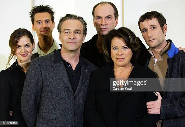 Hannah Schrsder, Robert Glatzeder, Klaus J.Behrendt, Herbert Knaup, Rita Russek and Heikko Deutschmann pose at the photocall for the new ZDF TV-Soap...