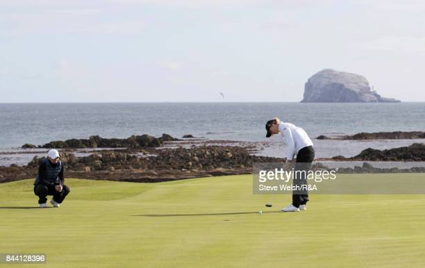 Hannah Screen of Berkhamsted putts during the Ladies British Open Amateur Stroke Play Championship on September 8 2017 in North Berwick Scotland