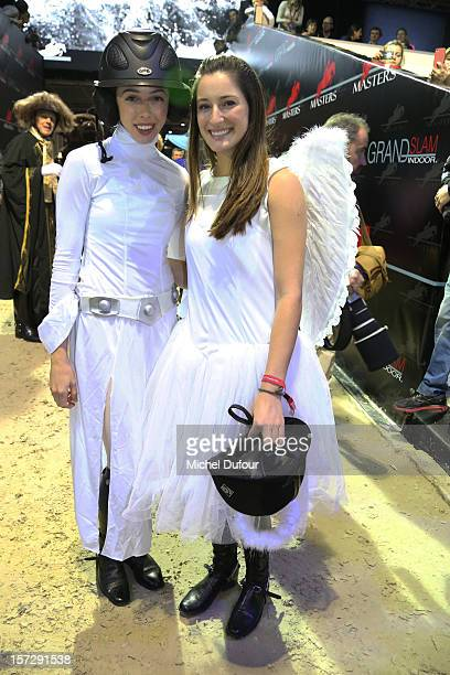 Hannah Selleck and Jessica Springsteen attend the Gucci Paris Masters 2012 at Paris Nord Villepinte on December 1 2012 in Paris France