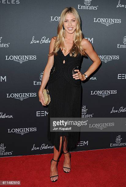 Hannah Selleck arrives at Longines Masters Los Angeles Gala at Long Beach Convention Center on September 29 2016 in Long Beach California