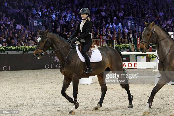 Hannah Selleck riding at the International Gucci Masters Competition Day 2 on December 3 2011 in Villepinte France