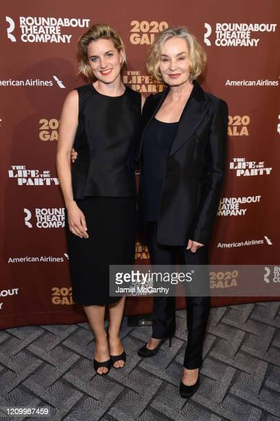 Hannah Shepard and Jessica Lange attend the Roundabout Theater's 2020 Gala at The Ziegfeld Ballroom on March 02 2020 in New York City