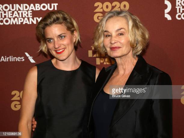 Hannah Shepard and mother Jessica Lange pose at the 2020 Roundabout Theater Gala honoring Alan Cumming, Michael Kors & Lance LePere at The Ziegfeld...