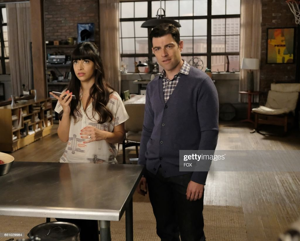 Hannah Simone and Max Greenfield in the 'Misery' episode of NEW GIRL airing Tuesday, March 21 (8:00-8:31 PM ET/PT) on FOX.