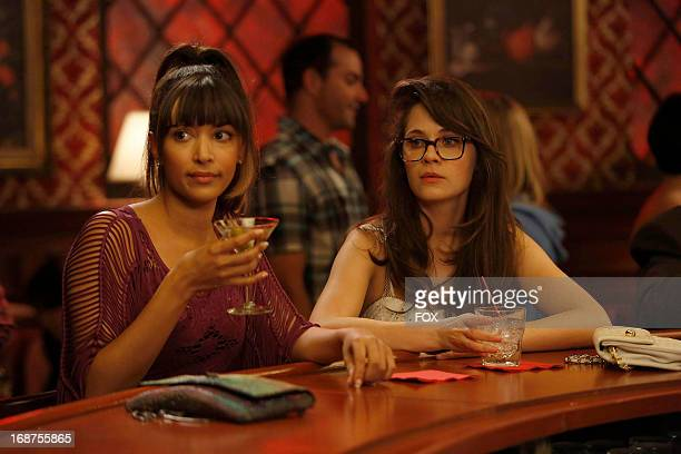 Hannah Simone and Zooey Deschanel starsin the 'Virgins' season finale episode of NEW GIRL airing Tuesday April 30 2013 on FOX