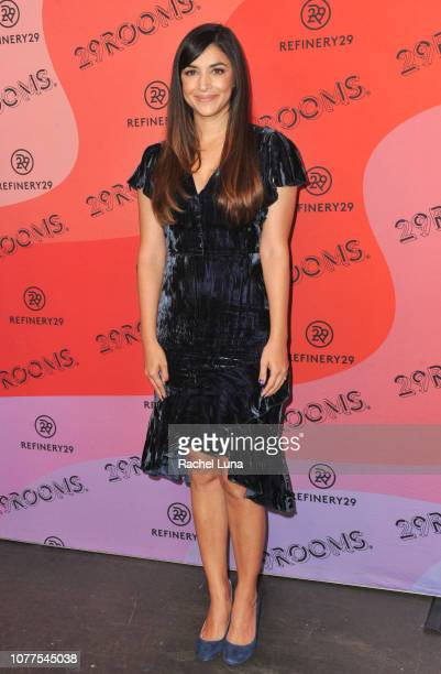 Hannah Simone attends Refinery29's 29Rooms Los Angeles 2018 Expand Your Reality at The Reef on December 04 2018 in Los Angeles California
