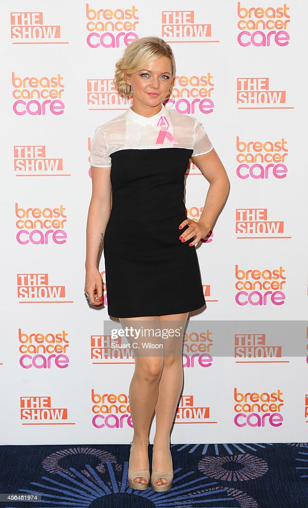 Hannah Spearritt arrives for Breast Cancer Care's London Fashion Show 2014 at The Grosvenor House Hotel on October 1, 2014 in London, England.