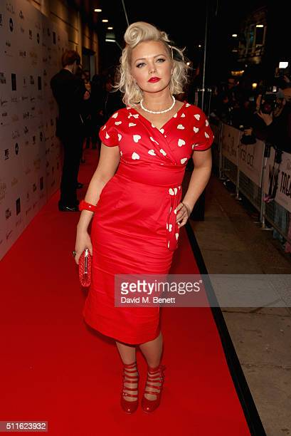 Hannah Spearritt attends the 16th Annual WhatsOnStage Awards at The Prince of Wales Theatre on February 21 2016 in London England