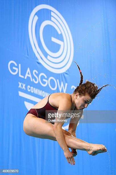 Hannah Starling of England competes in the Women's 1m Springboard Final at Royal Commonwealth Pool during day nine of the Glasgow 2014 Commonwealth...