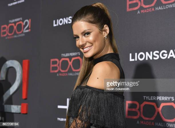 Hannah Stocking arrives at the premiere of Lionsgate's Tyler Perry's Boo 2 A Madea Halloween at Regal LA Live Stadium 14 on October 16 2017 in Los...