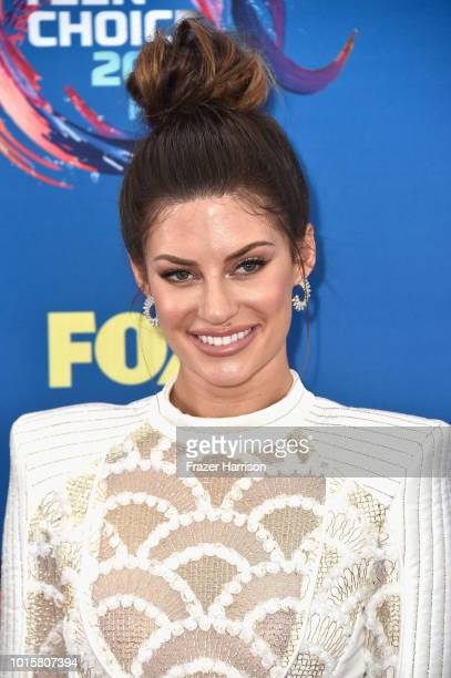 Hannah Stocking attends FOX's Teen Choice Awards at The Forum on August 12 2018 in Inglewood California