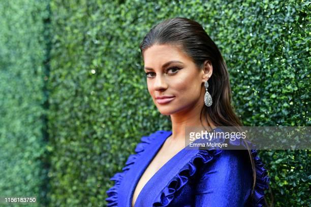 Hannah Stocking attends the 2019 MTV Movie and TV Awards at Barker Hangar on June 15 2019 in Santa Monica California