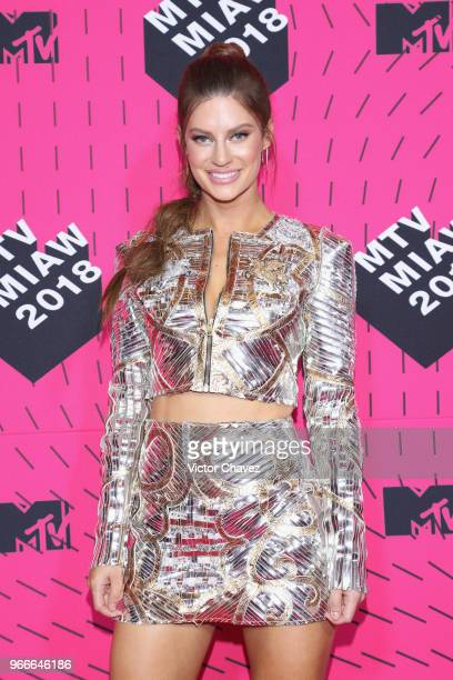 Hannah Stocking attends the MTV MIAW Awards 2018 at Arena Ciudad de Mexico on June 2 2018 in Mexico City Mexico