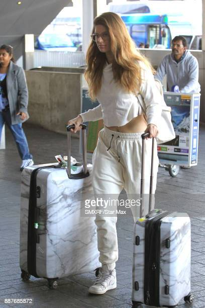 Hannah Stocking is seen on December 6 2017 in Los Angeles CA