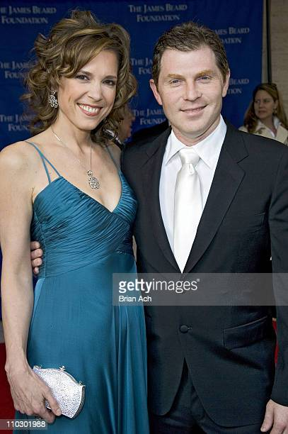 Hannah Storm and Bobby Flay during 2007 James Beard Foundation Awards Gala Arrivals at Lincon Center in New York New York United States
