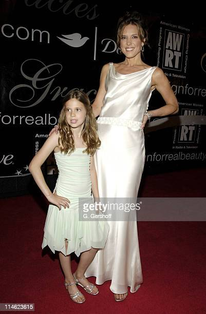 Hannah Storm and Ellery during 32nd Annual American Women in Radio Television Gracie Allen Awards Arrivals at Marriott Marquis in New York City New...