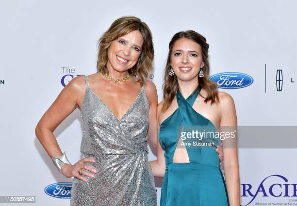 Hannah Storm and Hannah Hicks attend the 44th Annual Gracies Awards hosted by The Alliance for Women in Media Foundation at the Beverly Wilshire Four...
