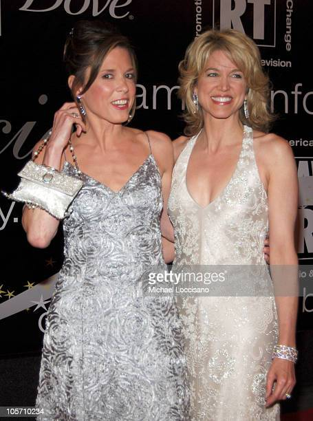 Hannah Storm and Paula Zahn during American Women in Radio Television's 30th Annual Gracie Allen Awards at The Marriott Marquis in New York City New...