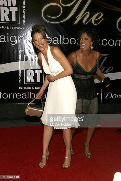Hannah Storm and Rene Syler during 31st Annual American Women in Radio Television Gracie Allen Awards at Marriott Marquis Hotel in New York New York...
