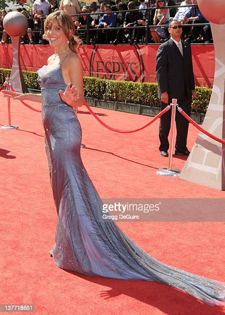 Hannah Storm arrives at the 2010 ESPY Awards at the Nokia Theatre LA Live on July 14 2010 in Los Angeles California