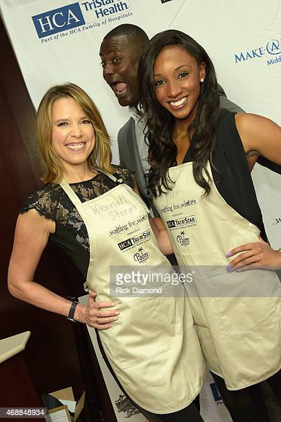 Hannah Storm, Kevin Carter, and Maria Taylor attend the 14th Annual Kevin Carters Waiting for Wishes Celebrity Waiters Dinner presented by HCA /...