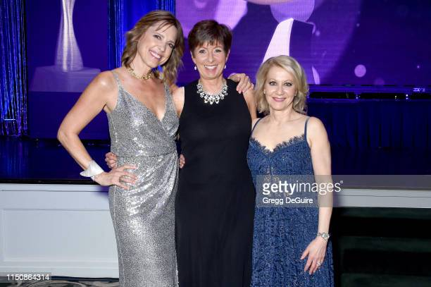 Hannah Storm Muffet McGraw and Andrea Kremer at the 44th Annual Gracies Awards hosted by The Alliance for Women in Media Foundation on May 21 2019 at...