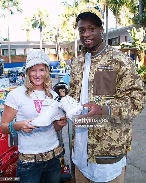 Hannah Teter and Dwyane Wade during ESPN The Magazine Presents Summer Fun 2006 Arrivals at The Roosevelt Hotel in Hollywood California United States