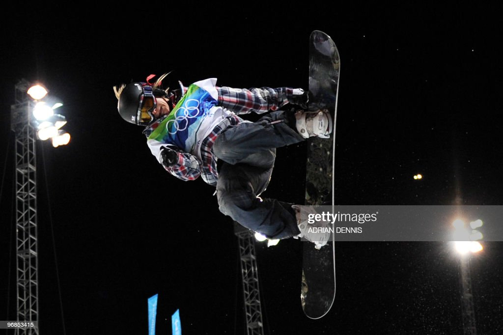 Hannah Teter of the US competes in the Women's Halfpipe Final at Cypress Mountain during the Vancouver Winter Olympics, north of Vancouver on February 18, 2010.