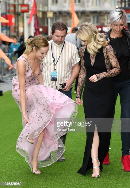 Hannah Tointon and Emma Rigby attend the World Premiere of 'The Festival' at Cineworld Leicester Square on August 13 2018 in London England