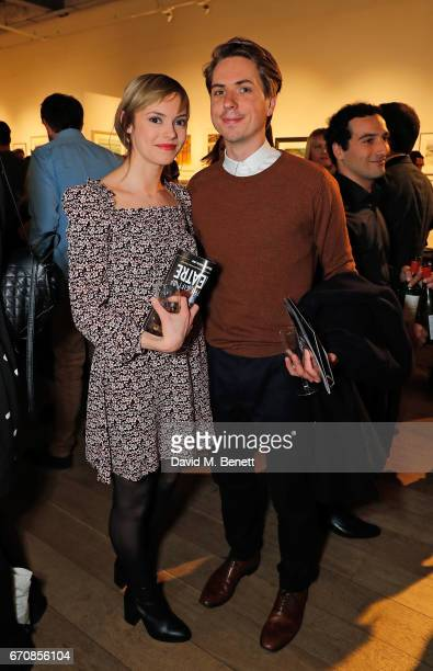 Hannah Tointon and Joe Thomas attend the press night after party for 'The Philanthropist' at the Mall Galleries on April 20 2017 in London England