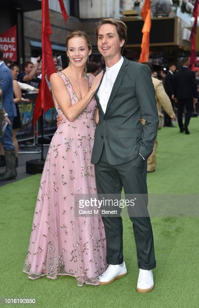 Hannah Tointon and Joe Thomas attend the World Premiere of 'The Festival' at Cineworld Leicester Square on August 13 2018 in London England