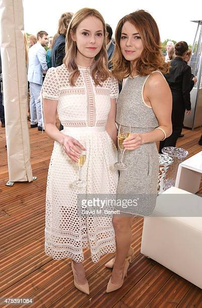 Hannah Tointon and Kara Tointon attend day two of the Audi Polo Challenge at Coworth Park on May 31 2015 in London England