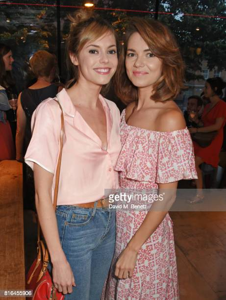 Hannah Tointon and Kara Tointon attend the press night party for 'Twilight Song' at The Park Theatre on July 17 2017 in London England