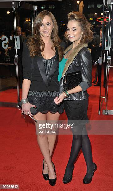 Hannah Tointon and Kara Tointon attends the UK Premiere of 'Harry Brown' at Odeon Leicester Square on November 10 2009 in London England