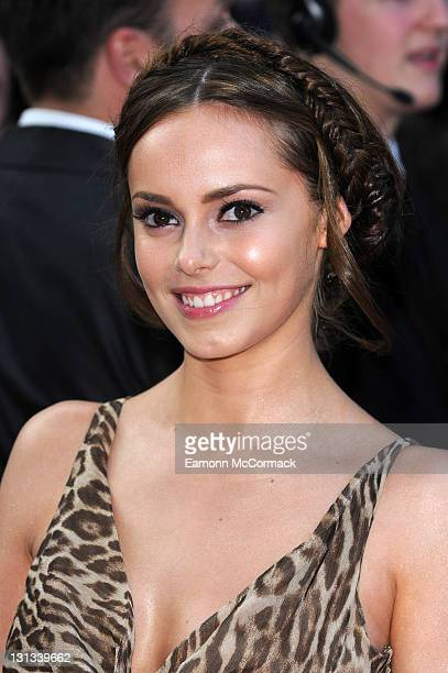 Hannah Tointon arrives on the red carpet for The Philips British Academy Television Awards at Grosvenor House on May 22 2011 in London England