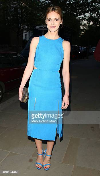 Hannah Tointon attending the ITV summer party in Notting Hill on July 9 2015 in London England