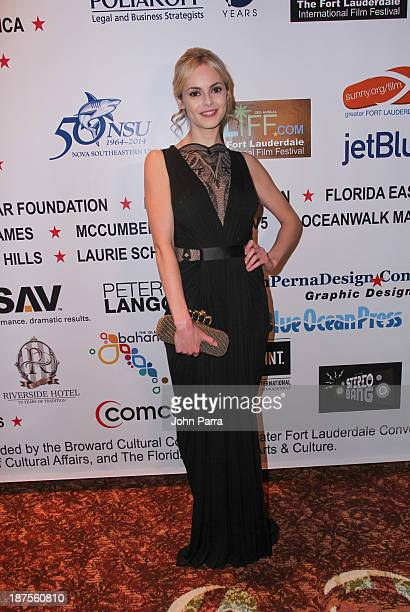 Hannah Tointon attends The 28th Annual Fort Lauderdale International Film Festival Inaugural Chairmans Awards Gala at Westin Diplomat on November 9...