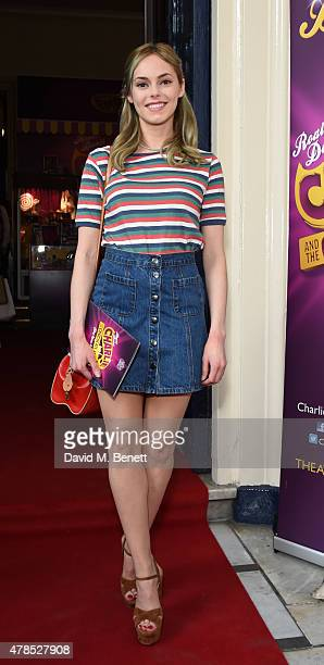 Hannah Tointon attends the Charlie and the Chocolate Factory second birthday in the West End at Theatre Royal on June 25 2015 in London England