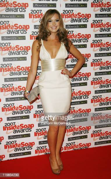 Hannah Tointon attends the Inside Soap Awards 2007 on September 24 2007 in London England